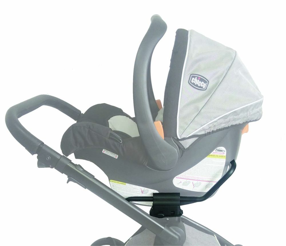 Easily snap in your Graco®, Chicco®, or Baby Jogger City Go® car seat onto the adapter, no tools required. Easy on easy off